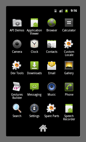 Default Android Application Launcher