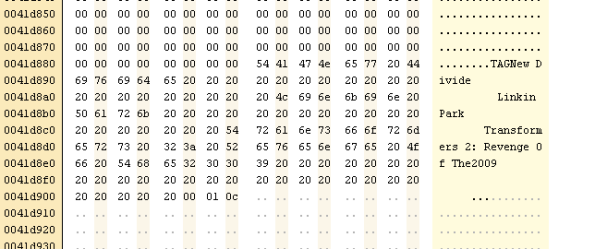 Hex Editor: MP3 Binary Format