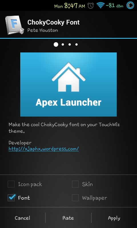ChokyCooky Font for Apex Launcher | [ Android Newbie ]